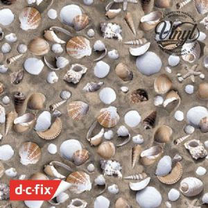 45cm Seaside Shell Print Sticky Vinyl Fablon (280-0004) Cut to size from 1 to 15 metres